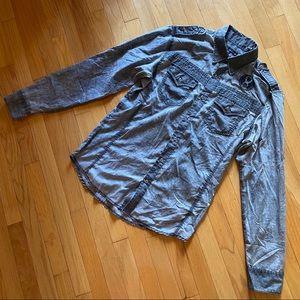 Affliction Black Premium Button Down LS shirt